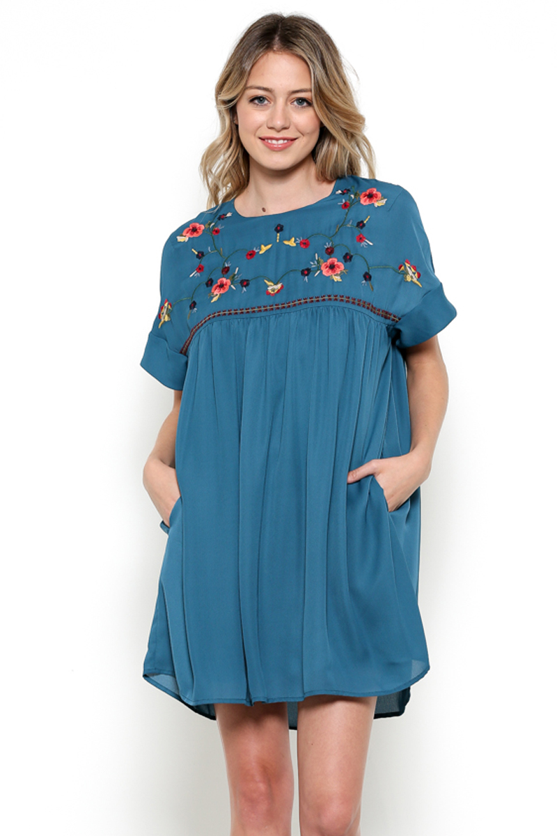 Babydoll Embroidered Dress