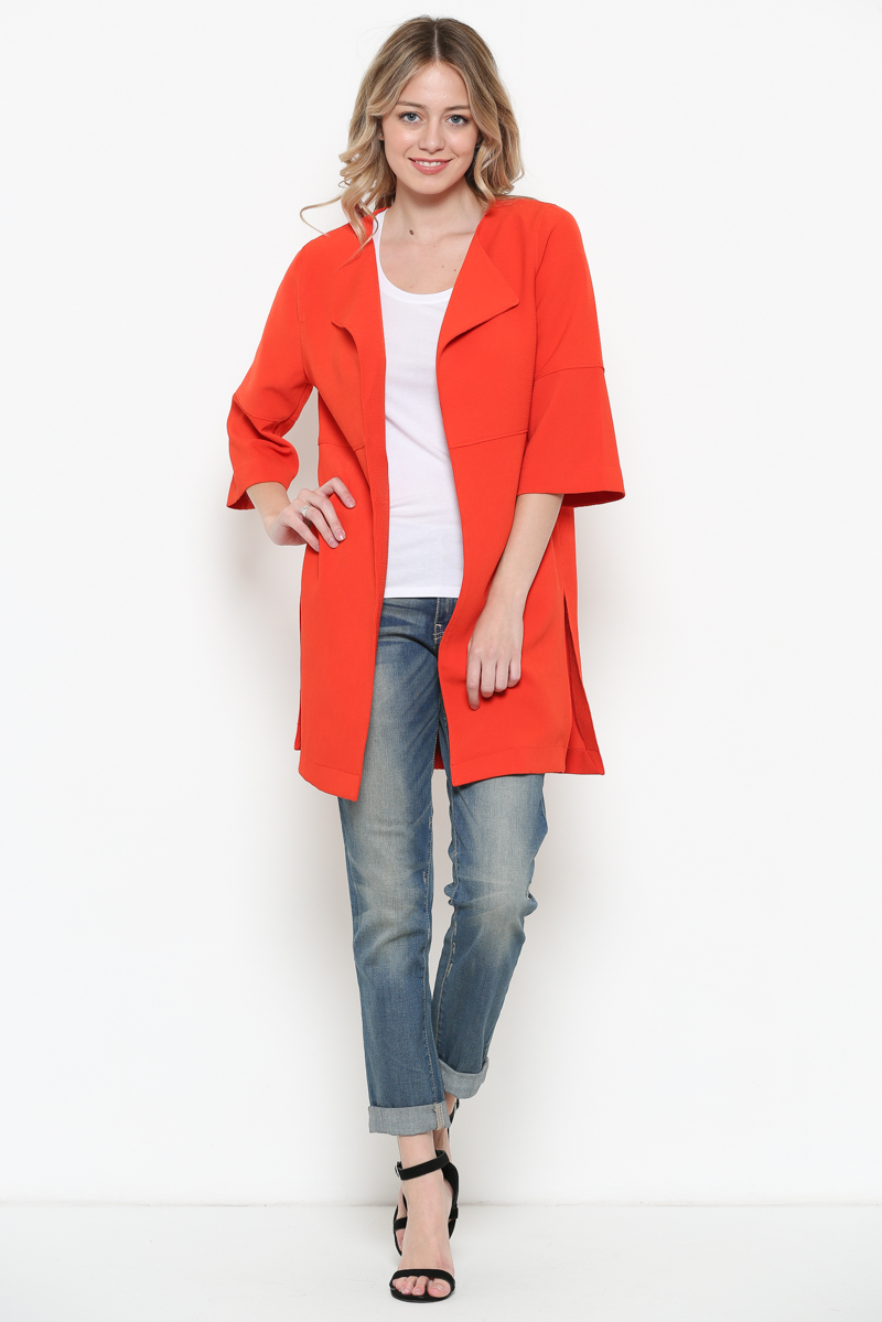 3/4 Sleeve Lightweight Coat