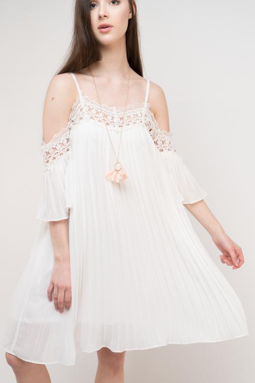 Crochet Accordian Pleated Dress