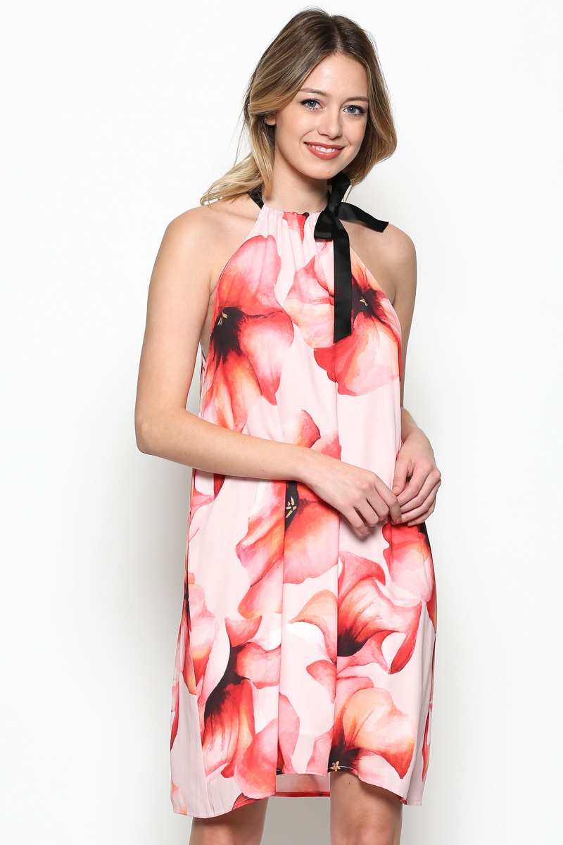 Floral Dress W/Bow