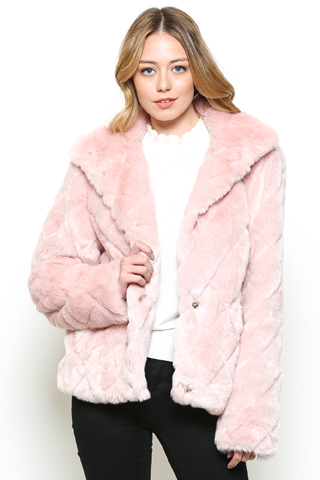 Faux Fur Quilted Jacket