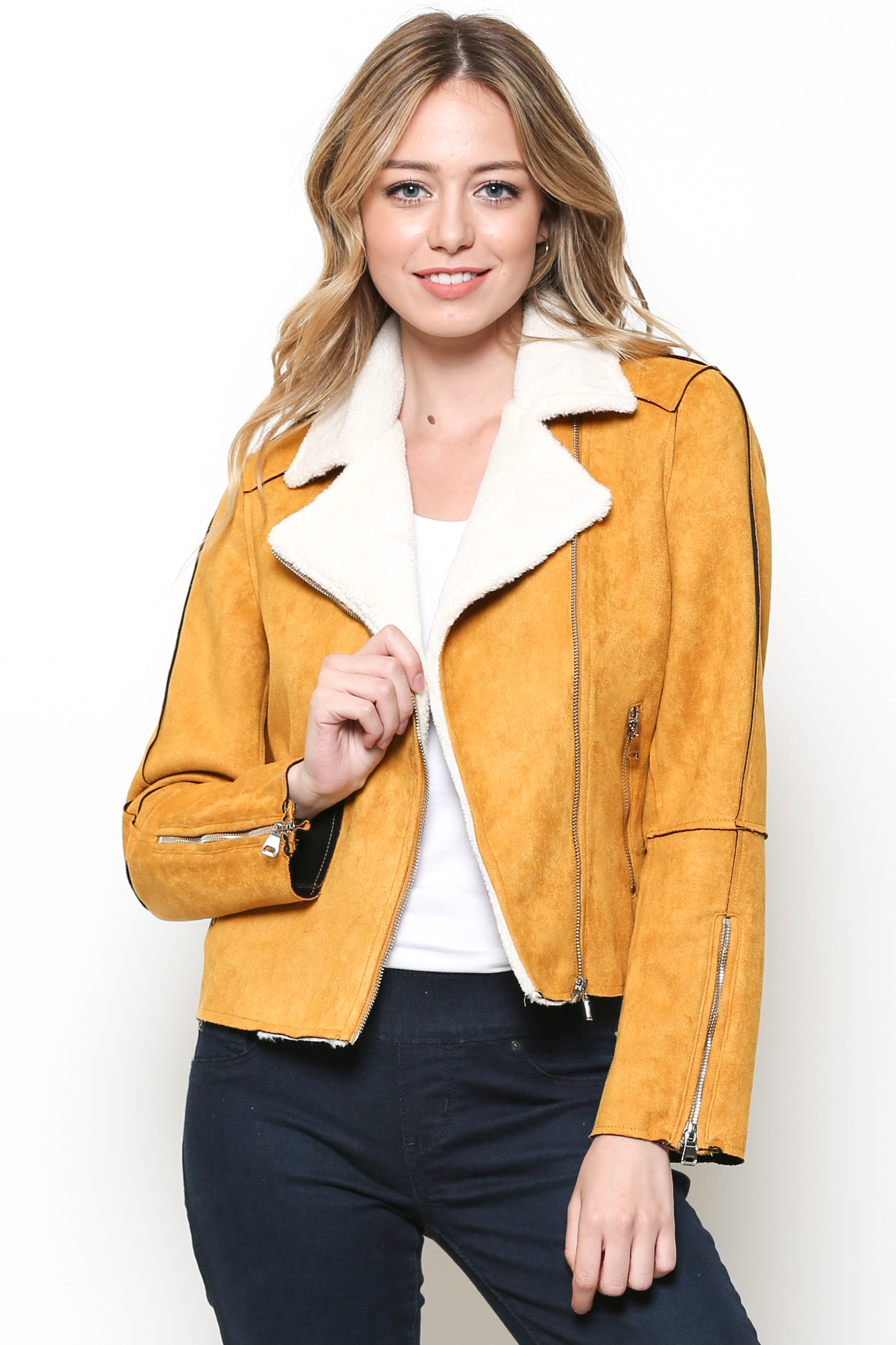 SUEDE FUR JACKET