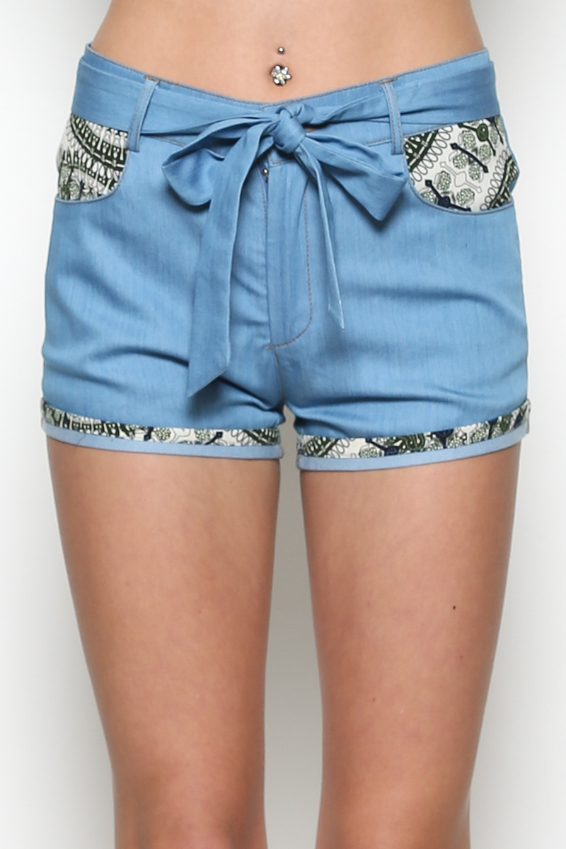 Shorts W/Sash